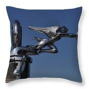 Packard Angel Hood Ornament Throw Pillow