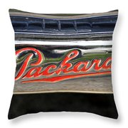 Packard Name Plate Throw Pillow