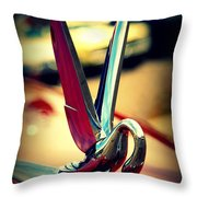 Packard Swan 2 Throw Pillow