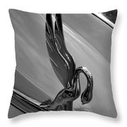 Packard Swan Throw Pillow