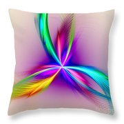Pacock-feathers Throw Pillow