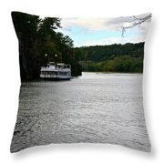Paddle Boat Throw Pillow