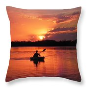 Paddle To Home Throw Pillow