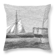 Paddle Wheel Packet Ship Throw Pillow