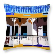 Paddleboat Throw Pillow