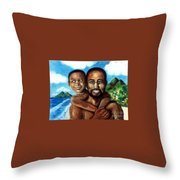 Padre Y Nino Throw Pillow