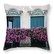 Padua Balcony And Window Boxes Throw Pillow