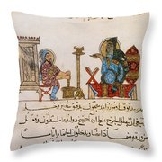 Page From Dioscoridess De Materia Medica Throw Pillow