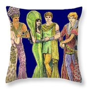 Pageant Couples Throw Pillow