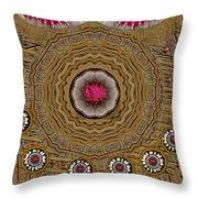 Pagoda Of Lotus Pop Art Throw Pillow