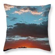 Pagosa Springs Colorado Sunset Throw Pillow