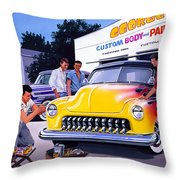 Paint Shop Throw Pillow