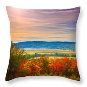 Paint Valley From Valley View Golf Throw Pillow