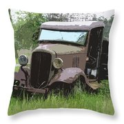 Painted 30's Chevy Truck Throw Pillow