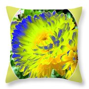 Painted Chrysanthemums Throw Pillow
