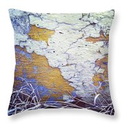Painted Concrete Map Throw Pillow