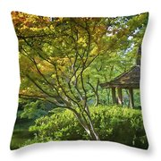 Painted Gardens Throw Pillow