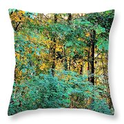 Painted Gold With Sunlight Throw Pillow