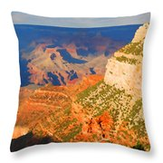 Painted Grand Canyon Before Sunset Throw Pillow