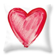 Painted Heart - Symbol Of Love Throw Pillow