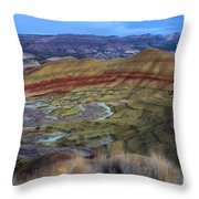 Painted Hills At Dusk Throw Pillow