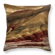 Painted Hills Grooves Throw Pillow