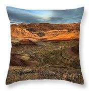 Painted Hills In The Fossil Beds Throw Pillow