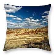 Painted Hills Oregon Throw Pillow