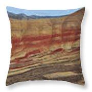 Painted Hills Panoramic Throw Pillow