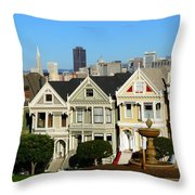 Painted Ladies 3 Throw Pillow