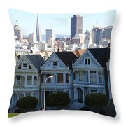 Painted Ladies Throw Pillow by Linda Woods