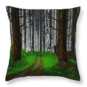Painted Lady Migration Throw Pillow