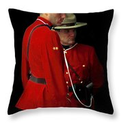 Painted Mounties Throw Pillow