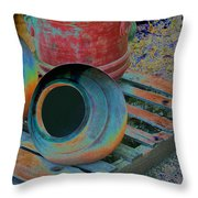 Painted Pots Pallet Throw Pillow