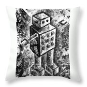 Painted Robot 1 Of 6 Throw Pillow