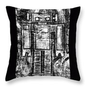Painted Robot 6 Of 6 Throw Pillow