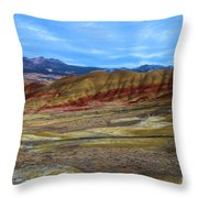 Painted Sky Over Painted Hills Throw Pillow