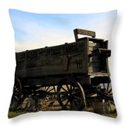 Painted Wagon Throw Pillow
