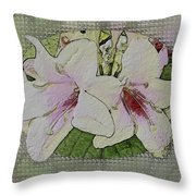 Painted Weigela Window Throw Pillow