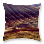 Painted With Red Throw Pillow
