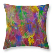 Painted Wooden Wall Throw Pillow