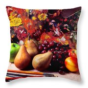 Painters Palette  Throw Pillow by Garry Gay