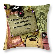 Painting Is Self-discovery Throw Pillow
