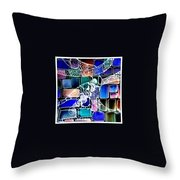 Painting The Old Bricks With Happiness Throw Pillow