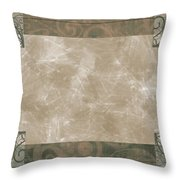 Paisly Print Greeting Card Blank Throw Pillow