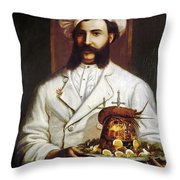 Palace Hotel Chef Throw Pillow