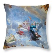 Palace Of Versailles Ceiling Art Throw Pillow