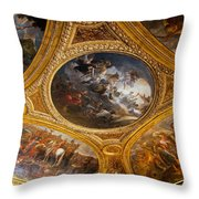 Palace Of Versailles Ceiling Throw Pillow