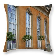 Palace Windows And Topiaries Throw Pillow