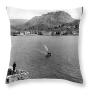 Palamidi Fortress - Greece - C 1907 Throw Pillow